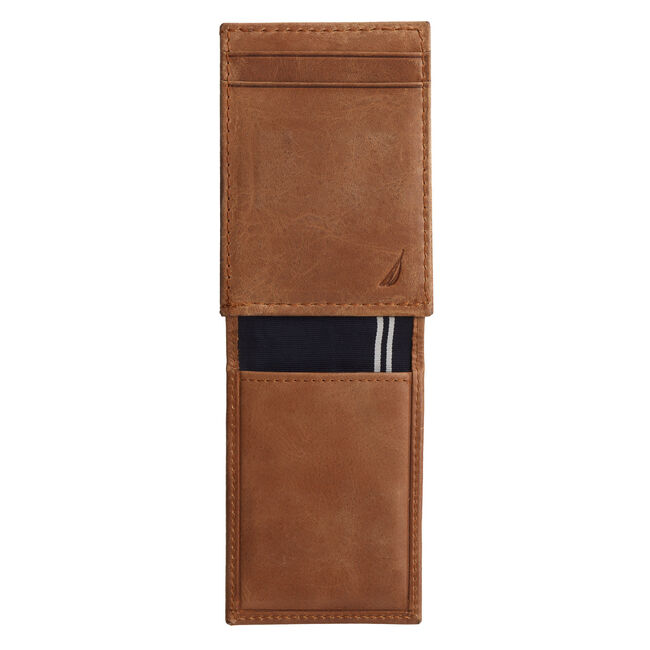 Hermosa Wide Magnetic Flap Wallet,Military Tan,large
