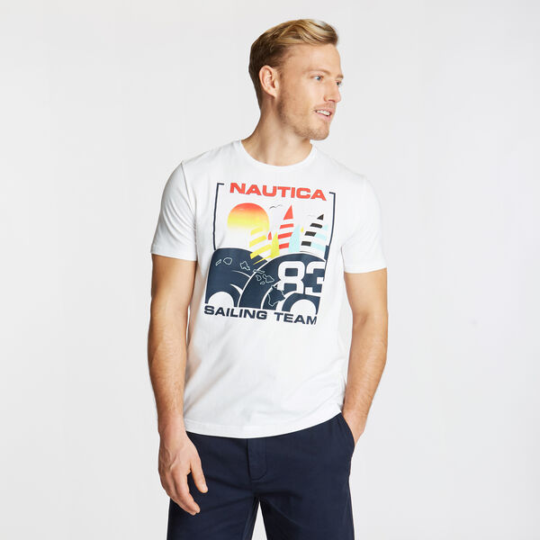 Sailing Team Graphic T-Shirt - Bright White