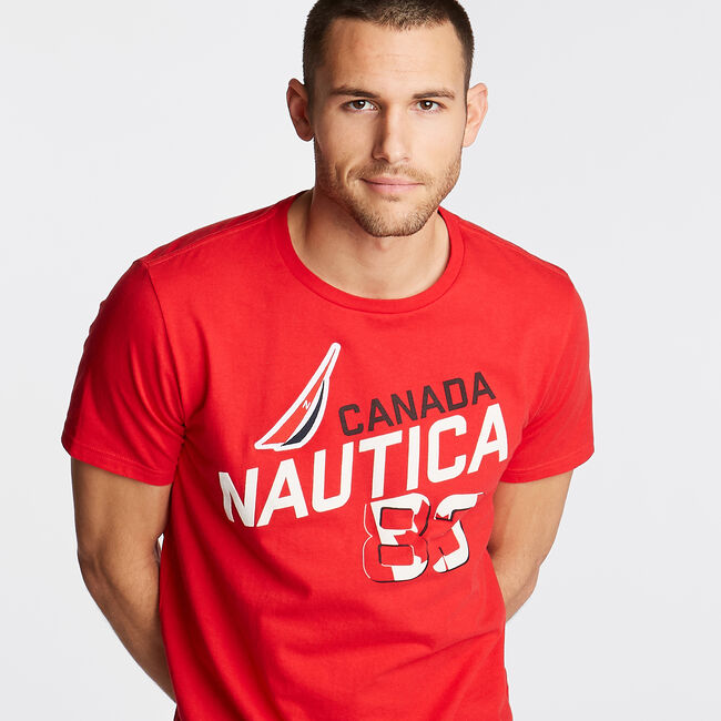 810eca2cc Canada Graphic T-Shirt,Reckoning Red,large