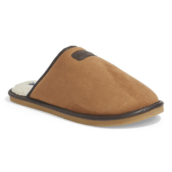 MICROSUEDE FAUX FUR LINED SLIPPERS - Military Tan