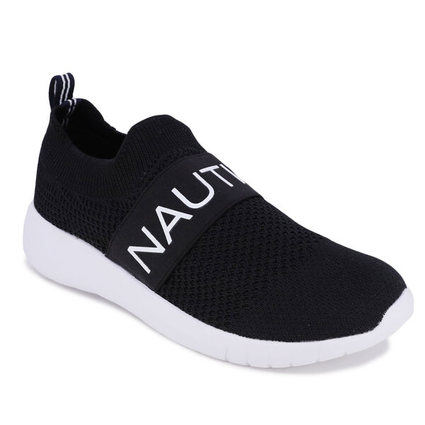 LOGO STRAP SLIP-ON SNEAKER - True Black