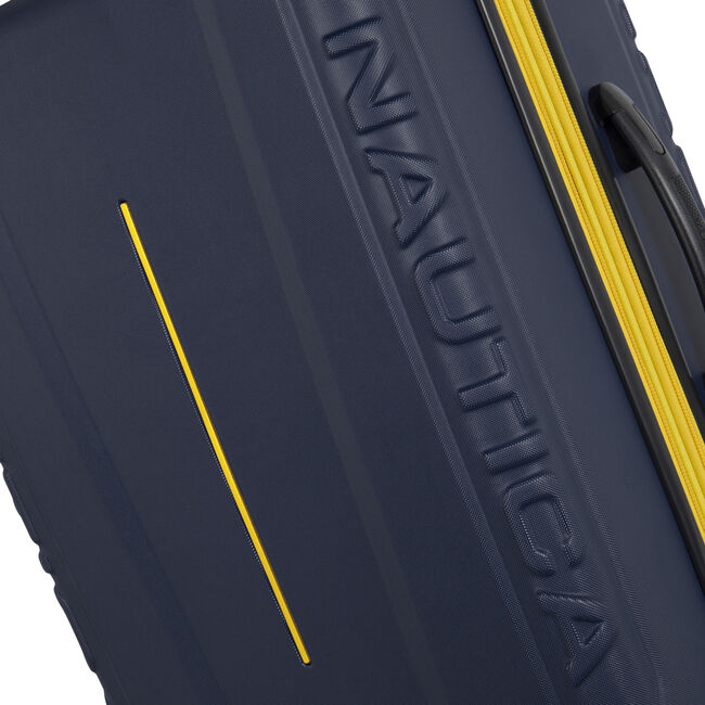"Vernon Bay 28"" Hardside Spinner Luggage in Navy/Yellow,Navy,large"