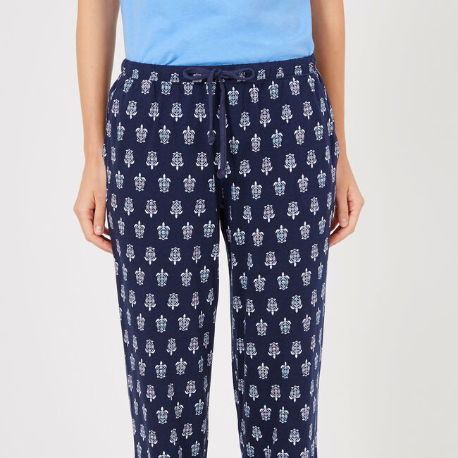Turtle Motif Pajama Pants,Summer Wind,large