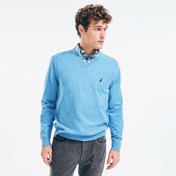 J-CLASS V-NECK SWEATER - Aquasplash