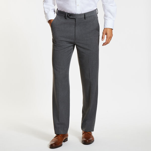 Ceylon Solid Dress Pants - Grey Carbon
