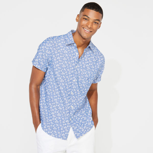CLASSIC FIT FLORAL PRINT CHAMBRAY SHIRT - Limoges