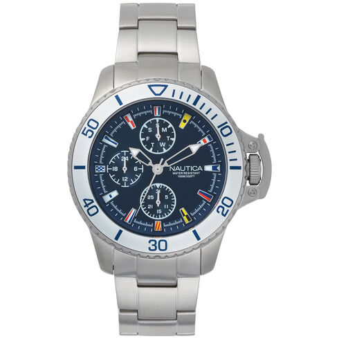 Bayside Multifunction Watch - Navy - Multi
