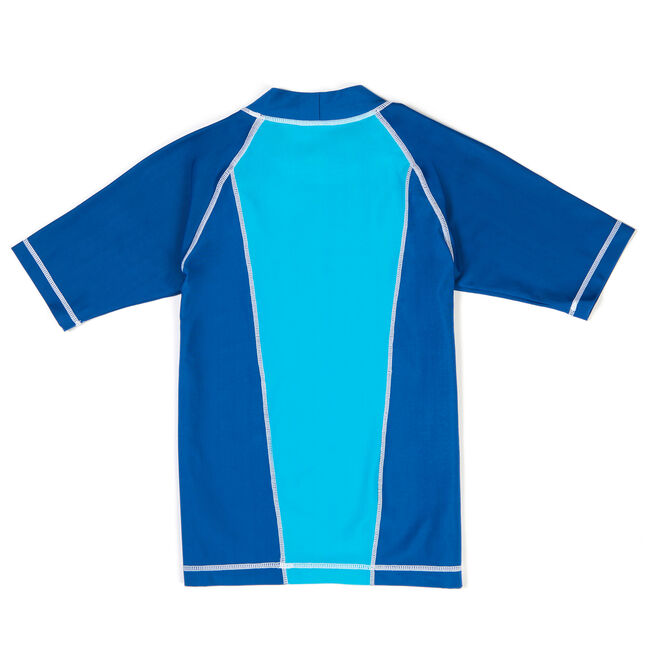 Toddler Boys' Harison Colorblock Rashguard (2T-4T),Washed Blue,large
