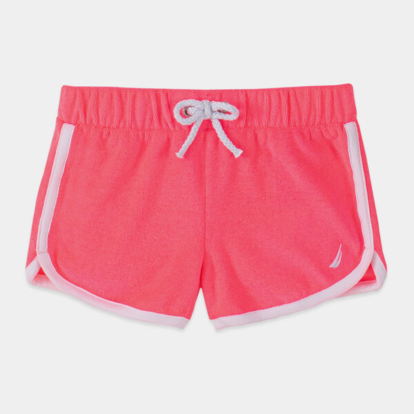 LITTLE GIRLS' TERRY DOLPHIN SHORTS (4-7) - Lt Pink