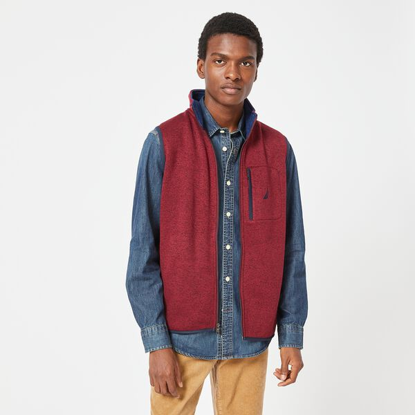 CLASSIC FIT J-CLASS FLEECE VEST - Zinfandel