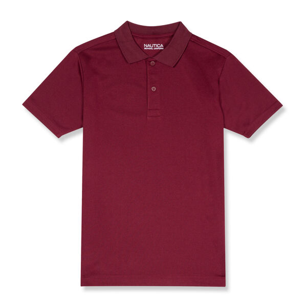 BOYS' PERFORMANCE POLO (8-20) - Classic Red