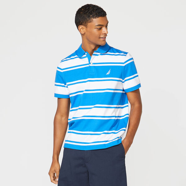 CLASSIC FIT STRIPED POLO - True Navy