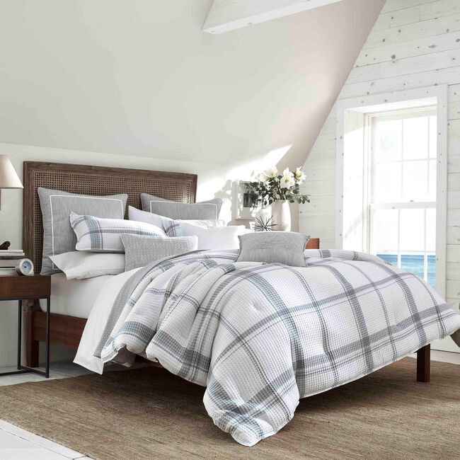 Bronwell Full/Queen Comforter Set in Grey Windowpane,Grey Heather,large