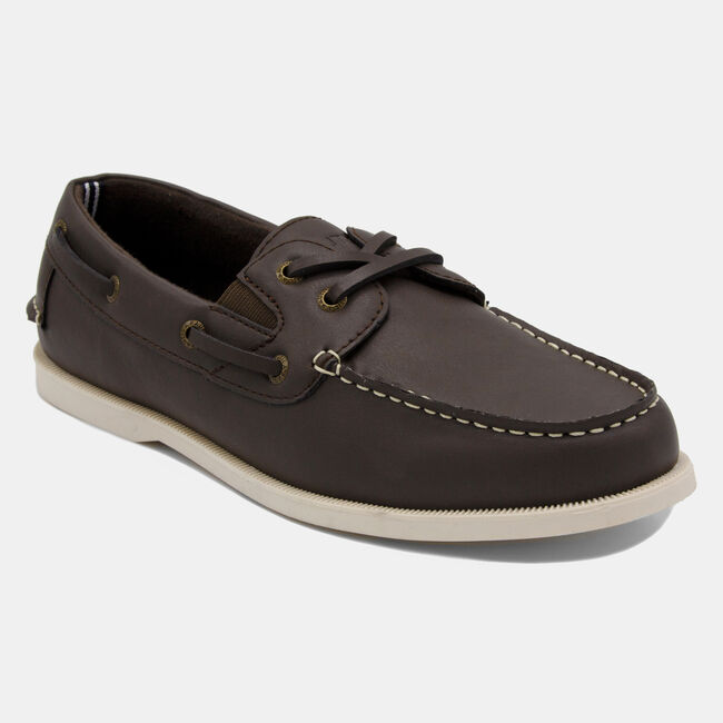 Linder Boat Shoe in Brown,Brown,large
