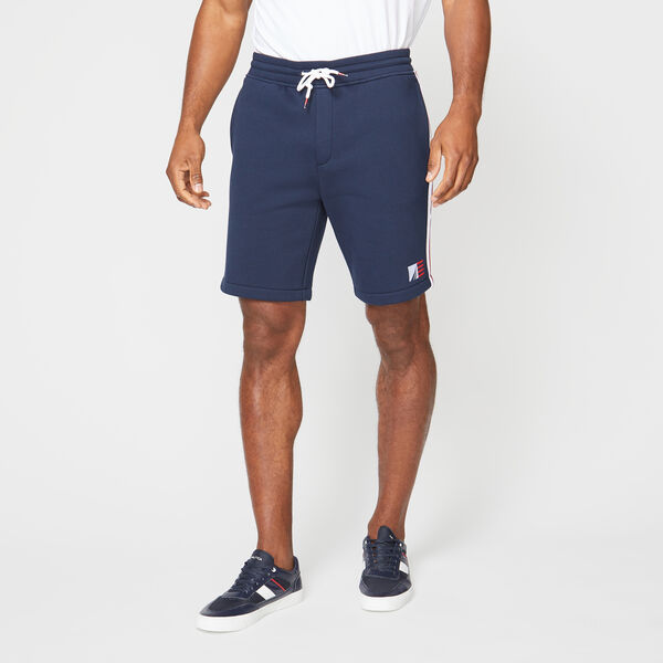 SIDE STRIPE KNIT SHORT - Navy