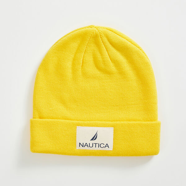LOGO PATCH CUFFED BEANIE - Yellow