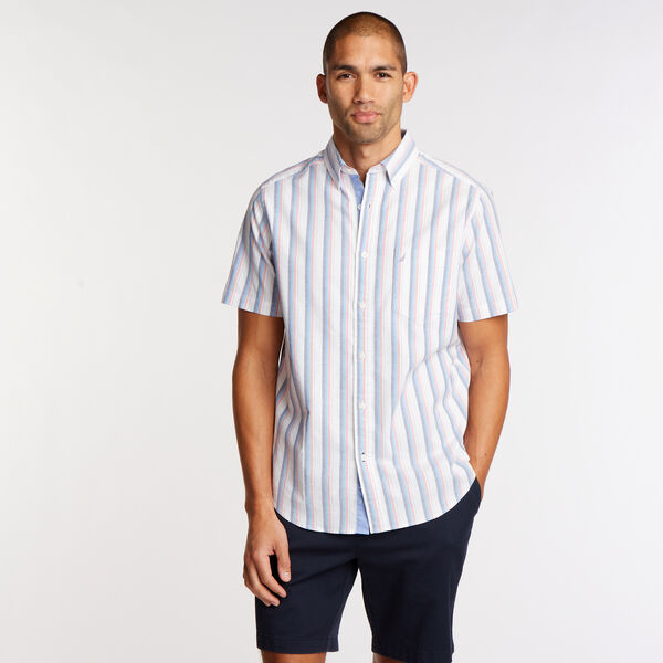 Short Sleeve Classic Fit Oxford Shirt - Blue Depths