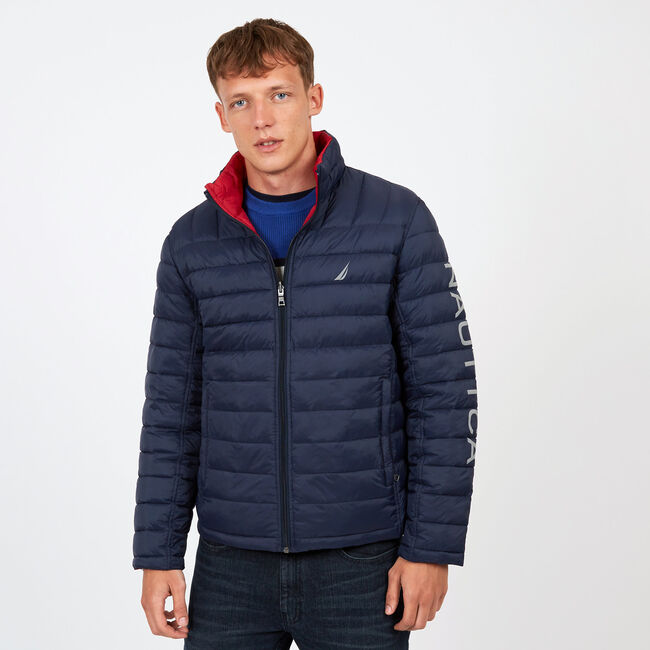 Endeavour Quilted Reversible Jacket,Pure Dark Pacific Wash,large