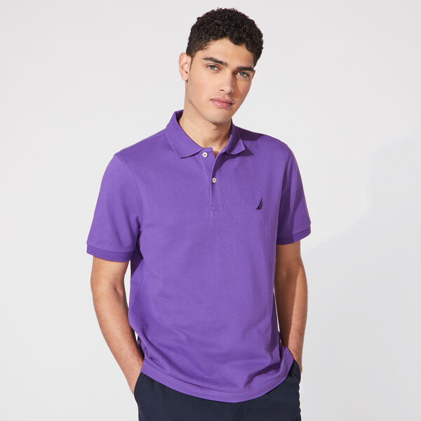 CLASSIC FIT DECK POLO - Pier Purple Heather