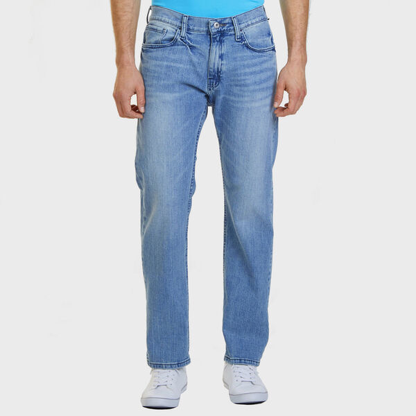 Big & Tall 5-Pocket Relaxed Fit Jeans with Straight Leg - Light Tide Water Wash