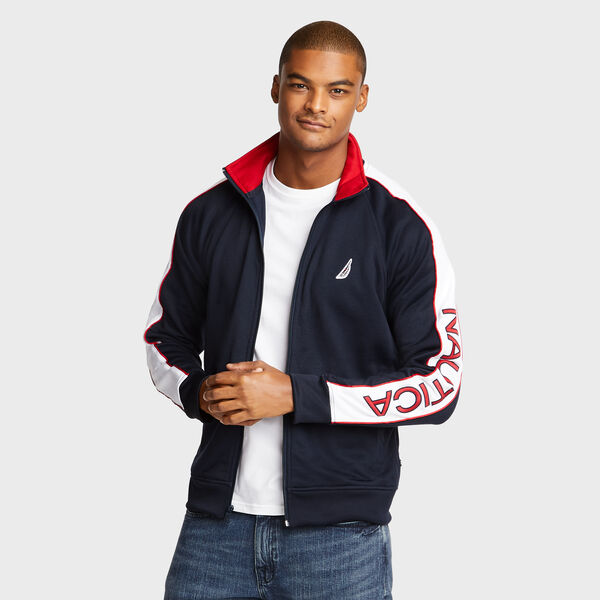 Track Jacket with Piping - Navy