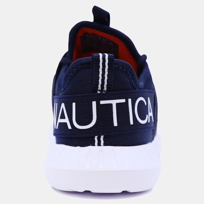 BOYS' EMBROIDERED LOGO SNEAKER,Ice Blue,large