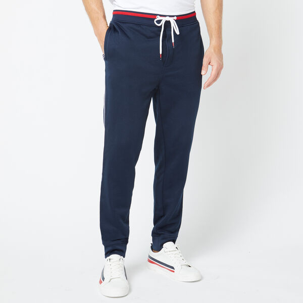 TRACK PANT WITH SIDE TAPE - Navy