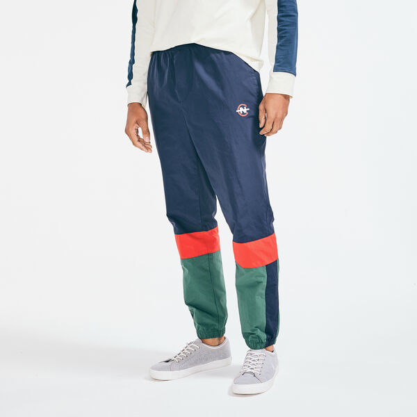 COMPETITION GRAPHIC COLORBLOCK TRACK PANT - Peacoat