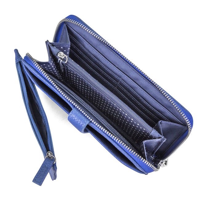 ZIP AROUND WRISTLET WITH REMOVABLE POUCH,Ice Blue,large