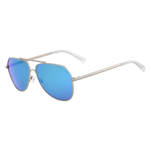 Aviator Sunglasses with Matte Frame - Silver