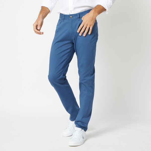 SLIM FIT STRETCH 5-POCKET PANT - Ensign Blue