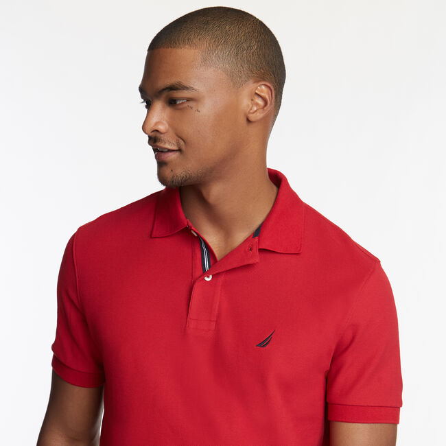 CLASSIC FIT PERFORMANCE DECK POLO,Nautica Red,large