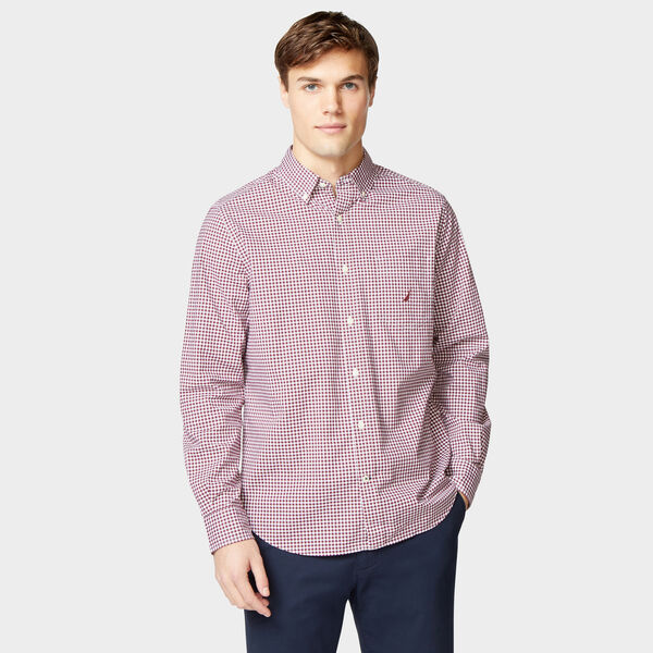 CLASSIC FIT STRETCH GINGHAM SHIRT - Zinfandel