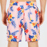 Big & Tall Hibiscus Floral Swim Trunks,Coral Sands,large
