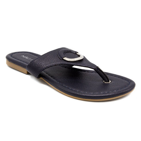 Hase T-Strap Sandals - Navy