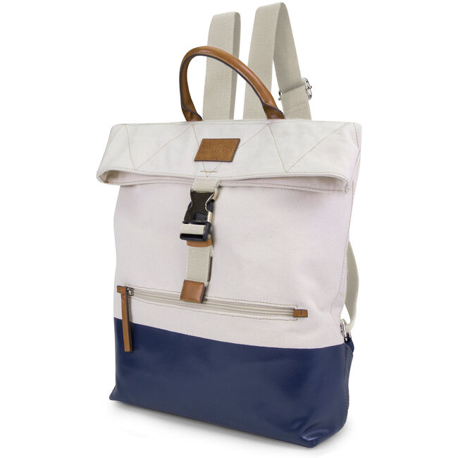 Modern Trail Backpack - Navy & Natural Colorblock,White,large