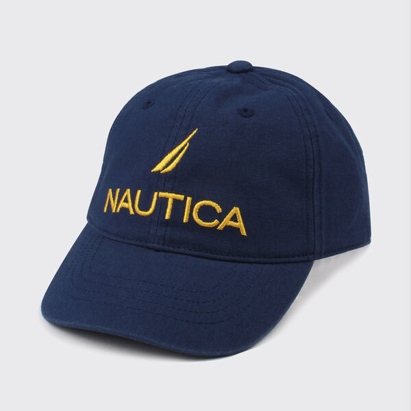 KIDS' EMBROIDERED LOGO CAP - Navy