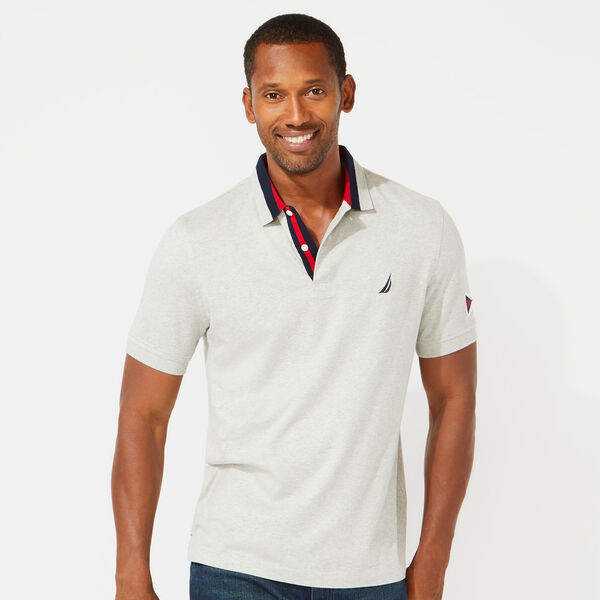 CLASSIC FIT SOLID POLO - Grey Heather