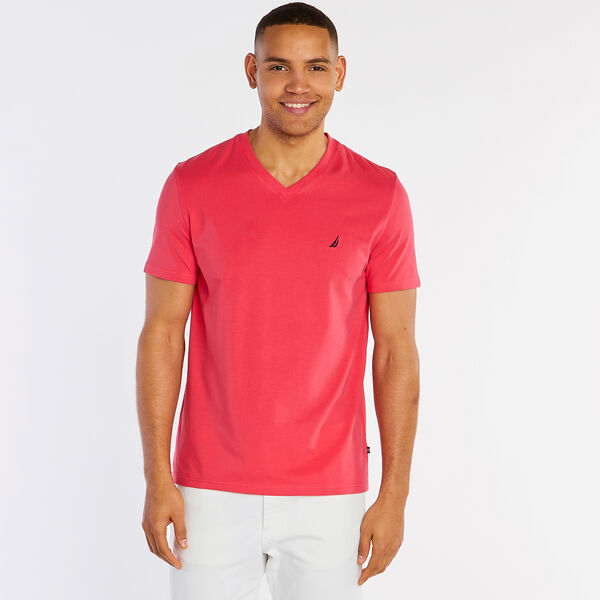 Big & Tall Short Sleeve V-Neck T-Shirt - Island Pink