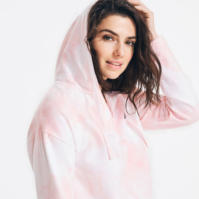 CLOUD WASH PULLOVER HOODIE,Flare Red,large