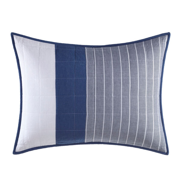 Swale Navy Standard Quilted Sham - Navy
