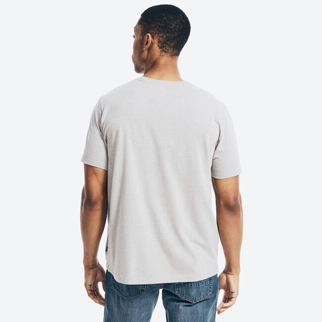 SUSTAINABLY CRAFTED GRAPHIC T-SHIRT,Grey Heather,large