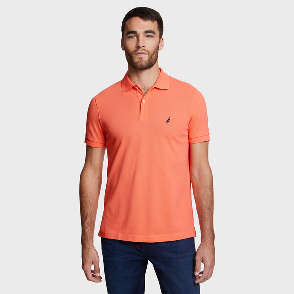 SLIM FIT MESH POLO - Vibe Orange