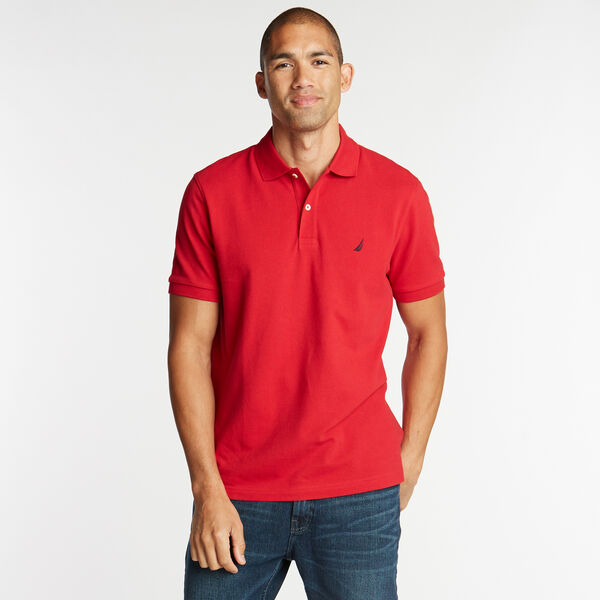 Classic Fit Mesh Polo - Nautica Red