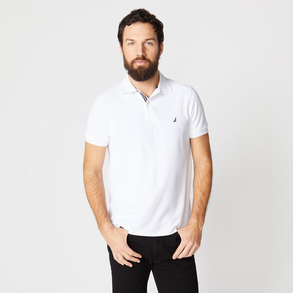 SLIM FIT PERFORMANCE POLO - Bright White