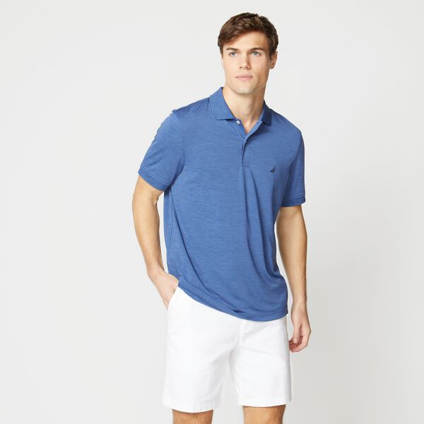 CLASSIC FIT PERFORMANCE GOLF POLO - Stellar Blue Heather