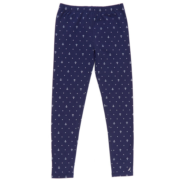Girls' Leggings in Critter Print - Navy