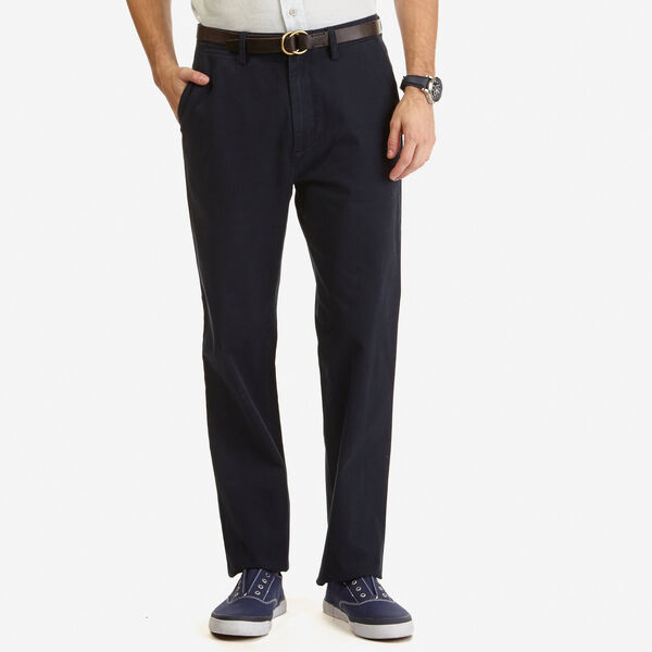 Flat Front Classic Fit Deck Pants - True Navy