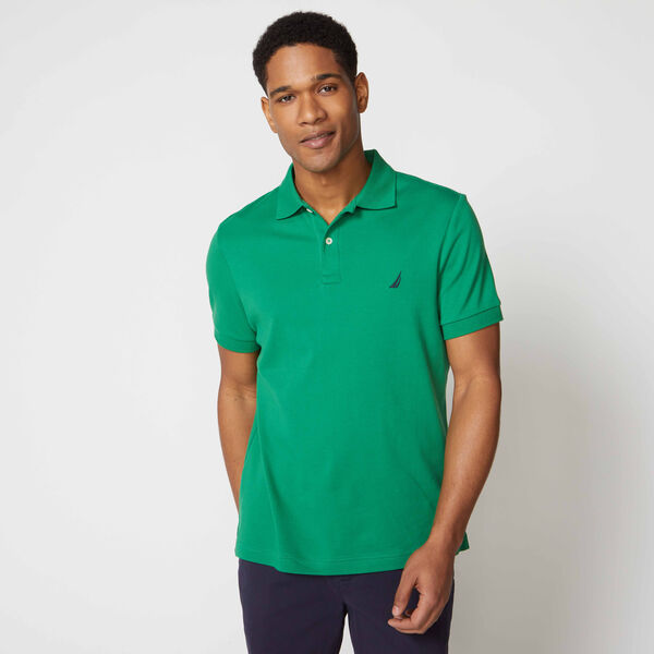 SLIM FIT INTERLOCK POLO - Bimini Green