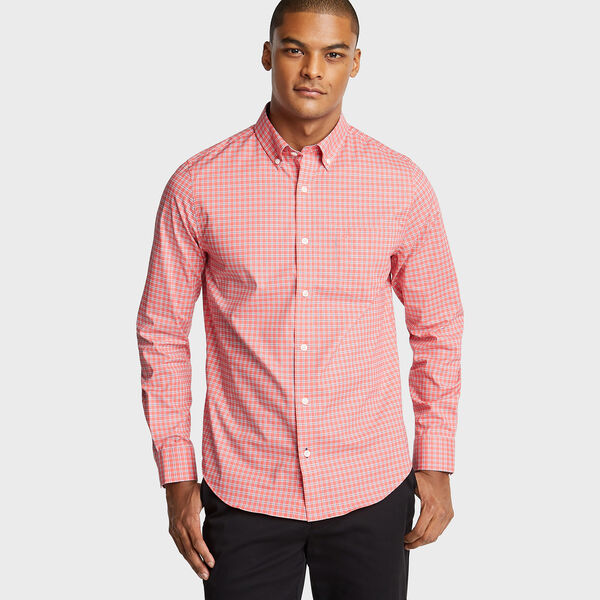 SLIM FIT WRINKLE-RESISTANT POPLIN SHIRT - Spiced Coral